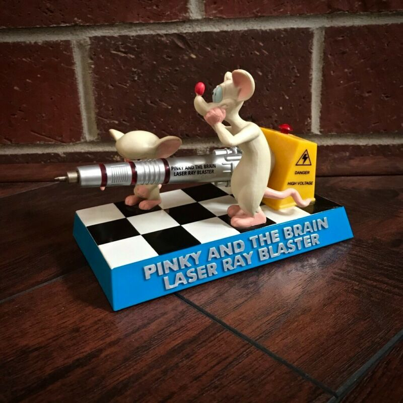 Pinky and the Brain Laser Ray Blaster Figurine Pen 2000 Warner Bros. Animaniacs