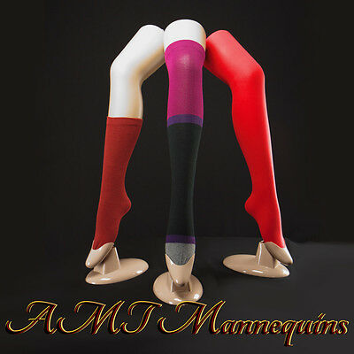 1 Female Mannequin Leg Displays Stockingsthigh Highs Socks 1 Skin Tone Leg