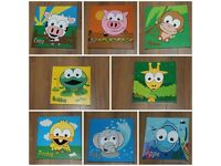 8 kids canvases