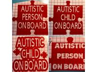 Autistic autism car sticker decal approx 14cms