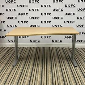 Adjustable Beam Wave Desk in Oak