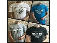 NEW ARMANI JEANS SHORT SLEEVE REGULAR FIT T-SHIRT