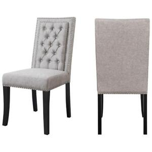 Eric Contemporary Polyester Dining Chair - Set of 2 - Grey
