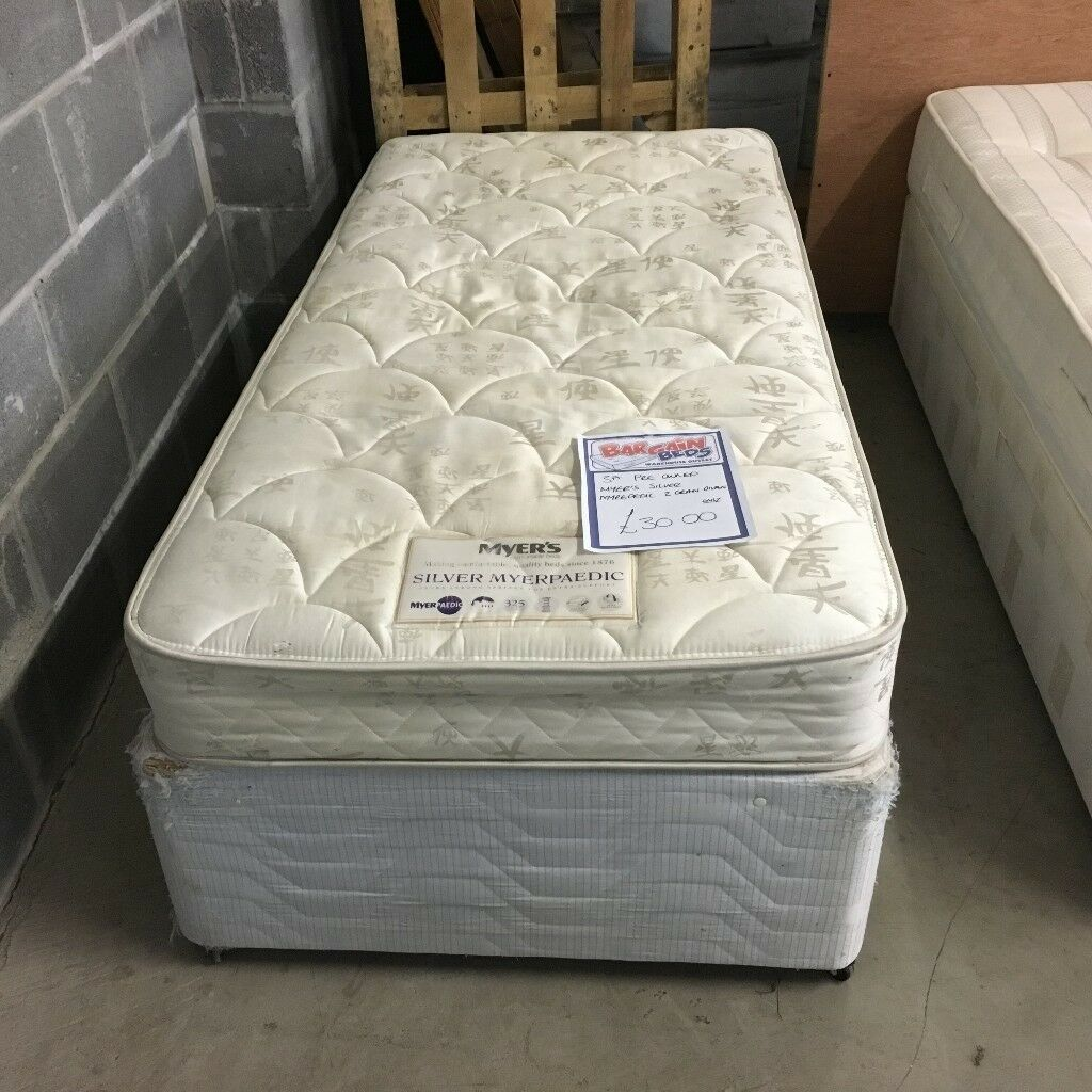 3' Single divan bed with 2 drawers (mattress