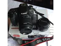Canon70d digital camera and lenses