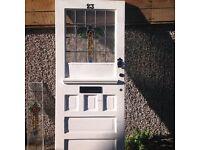 Reclaimed 1930's/Edwardian Door with original leaded glass