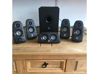 Logitech Surround Sound Speakers with Bass Box