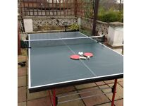 butterfly table tennis fold away frame and brand new bats balls and net