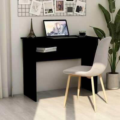 Vidaxl Desk Black 35.4 Chipboard Writing Computer Study Office Work Station