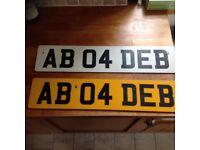 DEB personalised number plates
