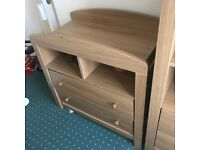 Mothercare wardrobe and drawers, bed from ikea!!