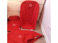 Red bugaboo cameleon fabric