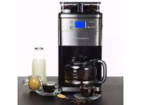 Andrew James Coffee Maker With Integrated Bean Grinder