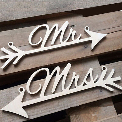 Rustic Wedding Hanging Signs Mr and Mrs Chair Sign for Wedding Party - Mr And Mrs Signs For Wedding
