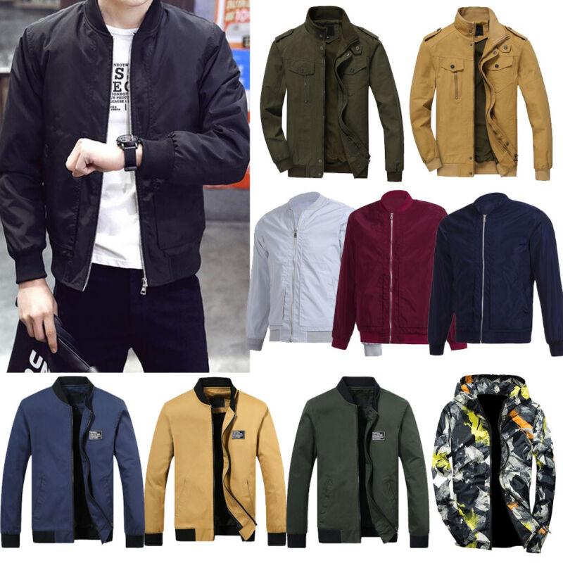 Men Autumn Winter Warm Jacket Overcoat Outwear Slim Long Tre