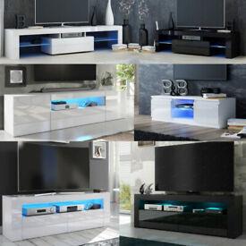 BRAND NEW TV UNIT / TV CABINET / TV STAND WHITE / WHITE GLOSS BLACK / BLACK GLOSS