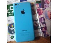 Unlocked blue iPhone 5c