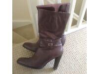 Purple MetLife long boots