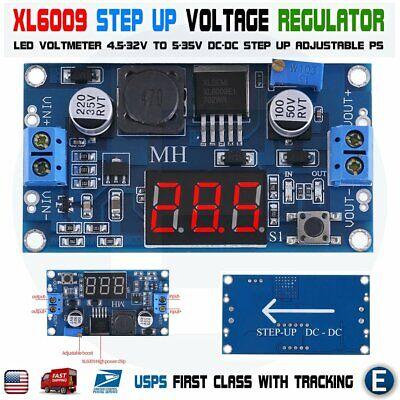 Xl6009 Led Dc-dc 4.5-32v To 5-35v Voltage Step Up Adjustable Boost Voltmeter Usa