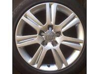 Set 4 x Genuine Audi 7 arm Alloy Rims A3 A4 A6 (No Tyres) 17 inch