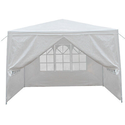 10'x10' Carport Canopy Party Tent Garage Car Shelter Sidewall with Windows White