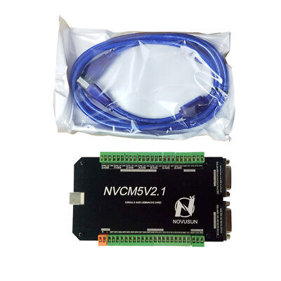 Cnc 5 Axis Usb Mach3 Motion Control Card Breakout Interface Board 125khz