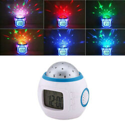 Sky Star LED Night Light Projector Lamp Bedroom Digital Musical Alarm Clock