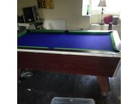 Slate pool table approx 6ft by 4ft. Great xmas present!