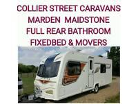 2013 Bailey unicorn valencia s2 fixedbed 4 berth caravan + movers