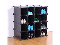 NEW PLASTIC BOOK CD DVD SHOE 16 PAIR STORAGE ORGANIZER RACK DISPLAY FILING SHELF CABIN STAND UNIT