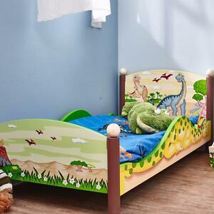 Dinosaur Kingdom Convertible Toddler Bed by Fantasy Fields - Brand New