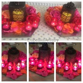 Floral centre pieces, table displays