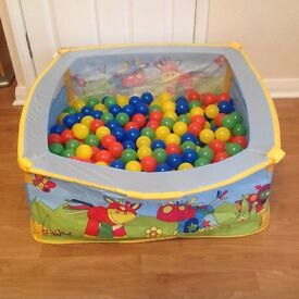 Ball pit with three bags of balls