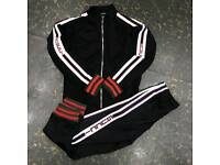 Gucci black tracksuit both