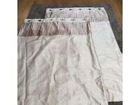 Neutral eyelet curtains size 228cm x 182cm - excellent condition - from Dunelm