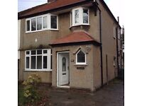 Frankby, Wirral. Unfurnished 3 bed semi detached house to rent gch, d/g, parking /garden