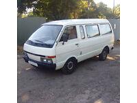 Left hand drive Nissan Vanette 2.0 diesel long wheel base mini bus.