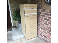 4 draw Wooden Filing Cabinet