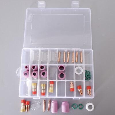 40pcs Nozzle Gas Lens Collet Consumables Kit Wp171826 Tig Welding Torch