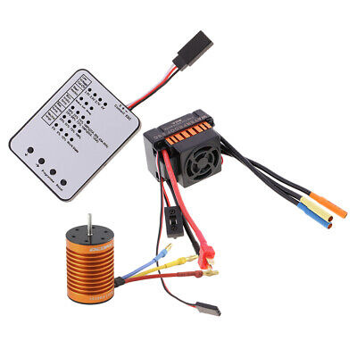 Car Parts - OCDAY 10T 3930KV Brushless Motor&60A ESC&Program Card for 1:10 RC Car Parts