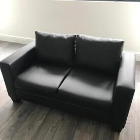 Cherie two seater black sofa