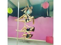 Beginners pole fitness class