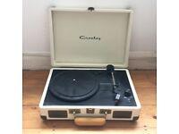 white crosley record player