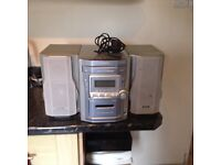 Panasonic 5 cd changer in silver,good condition,good working order,also has 2 speakers and cassette.