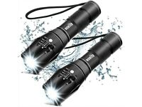 LED Torch Flashlight 1600LM Ultra Bright Tactical Flashlight Torches with 5 Light Modes