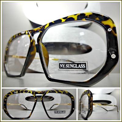 Classic RETRO HIP HOP Style Clear Lens EYE GLASSES Tortoise
