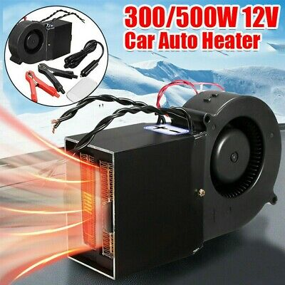 12V Electric Car Auto Heater 300/500W Adjustable Vehicle Warmer Window Defroster