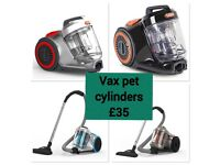 Vax power cylinder hoover vacuum cleaner £35