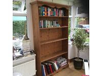 Solid pine bookcase 4ft wide