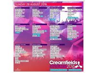 Creamfields 4 Day Camping tickets X2 Plus Car Park Pass for FREE!